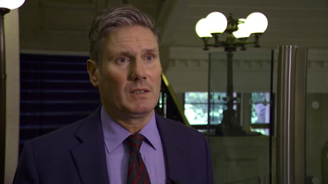 sir keir starmer mp discusses theresa may's brexit strategy saying 'the prime minister's negotiating strategy is collapsing around her' - scolding stock videos & royalty-free footage