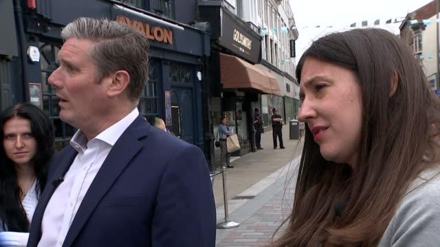 "sir keir starmer plans labour ""red wall"" fight back; england: county durham: darlington: int sir keir starmer mp interview sot ext gvs starmer... - darlington nordostengland stock-videos und b-roll-filmmaterial"