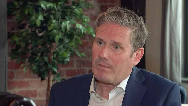 sir keir starmer plans labour red wall fight back england county durham darlington darlington train station int sir keir starmer mp towards on train... - darlington north east england stock videos & royalty-free footage