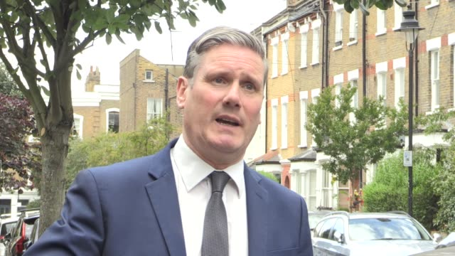 sir keir starmer responds to boris johnson's plans for further easing of coronavirus restrictions, saying labour will look at the details of the plan... - prime minister点の映像素材/bロール