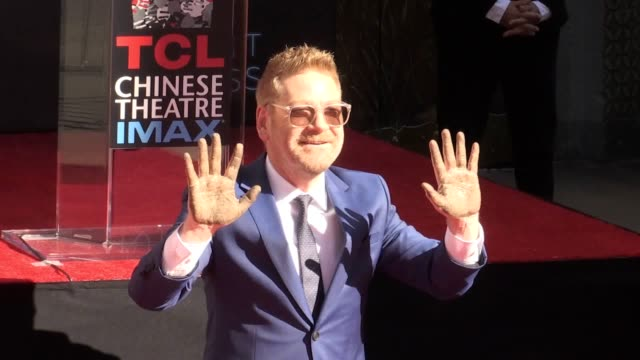 """sir kenneth branagh said he is """"shocked and appalled"""" at the harvey weinstein allegations after having his hand and footprints cast in cement on... - suspicion stock videos & royalty-free footage"""
