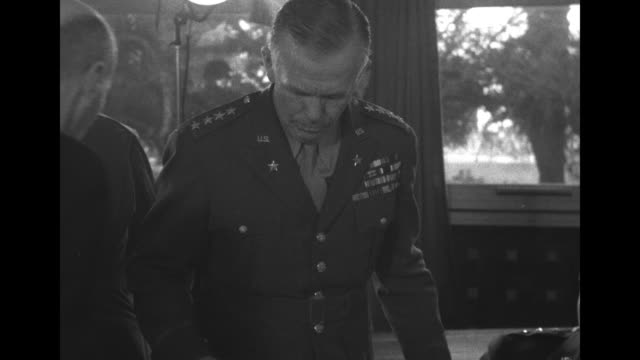 cu sir louis mountbatten of the royal navy at meeting of us and british military leaders at the anfa hotel during the casablanca conference / us gen... - dill stock videos and b-roll footage
