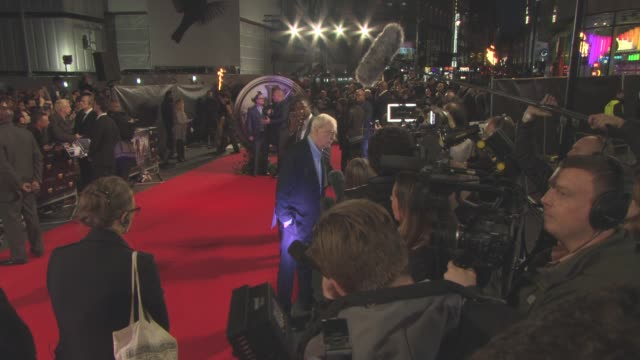 sir michael caine at 'the last witch hunter' uk film premiere at empire leicester square on october 19, 2015 in london, england. - leicester square stock videos & royalty-free footage
