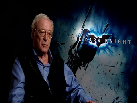 sir michael caine on christopher nolan, his ability to direct like an independent film maker and his genius casting of heath ledger as the joker at... - heath ledger stock videos & royalty-free footage