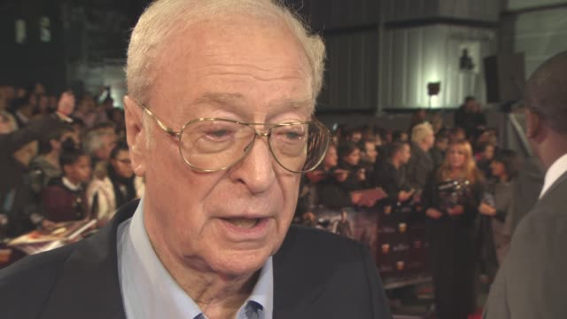 vídeos de stock e filmes b-roll de interview sir michael caine on what audiences can expect on what frightens him what film had the biggest impact on him advice he gives to young... - michael caine ator