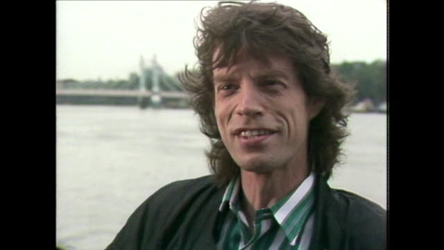 vídeos y material grabado en eventos de stock de sir mick jagger about 'pushing the boundaries' regarding retiring from music and the rolling stones - rolling stones