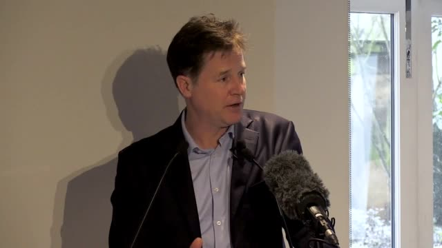 sir nick clegg says the government is paralysed by brexit and reductions in funding calling the decision to leave the eu a 'monumental waste of time'... - wasting time stock videos & royalty-free footage