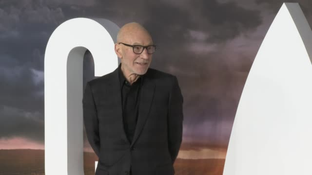 sir patrick stewart at 'star trek: picard' premiere at odeon luxe leicester square on january 15, 2020 in london, england. - premiere stock videos & royalty-free footage