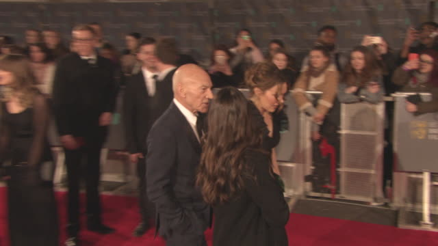 Sir Patrick Stewart at the EE British Academy Film Awards at Royal Albert Hall on February 18 2018 in London England