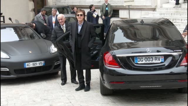 sir paul mccartney kayne west at stella mccartney pfw a/w 2015 at opera national de paris on march 08 2015 in paris france - paul mccartney stock videos and b-roll footage