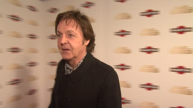 sir paul mccartney on how much he loved the film at the the boat that rocked martini premiere party at london - paul mccartney stock videos and b-roll footage
