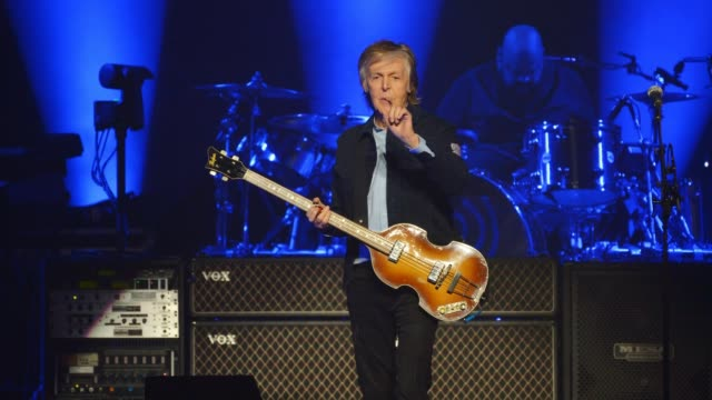 sir paul mccartney performs on stage at the o2 arena on december 16 2018 in london england - paul mccartney stock videos and b-roll footage