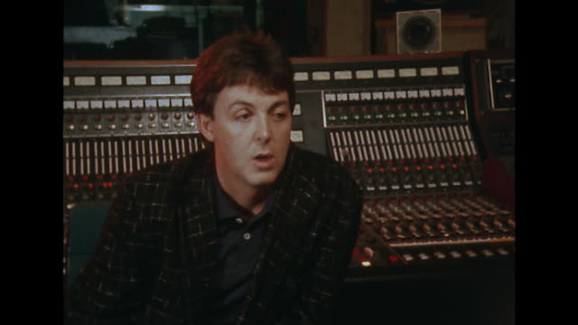 sir paul mccartney reacts when asked if the murder of john lennon affected him saying 'oh yeah sure it did but what's the good what can you do' - john lennon stock videos and b-roll footage