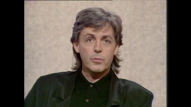 sir paul mccartney talks about his children being 'pretty normal' - bass guitar stock videos & royalty-free footage