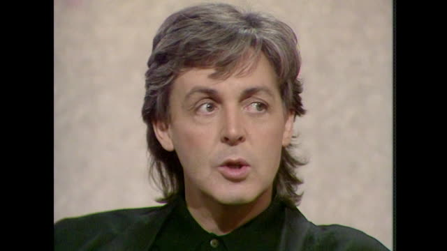 sir paul mccartney talks about john lennon saying 'we had bad times..but he was such a major talent and such a great fella. i think everyone misses... - john lennon stock videos & royalty-free footage
