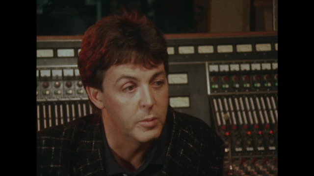 sir paul mccartney talks about money being an early motivation whilst being in the beatles - pop music stock videos & royalty-free footage