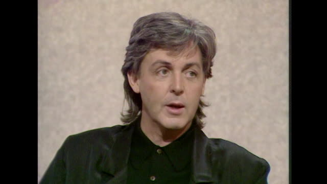 sir paul mccartney talks about playing live music saying 'i wouldn't give it up for the world' - paul mccartney stock videos & royalty-free footage