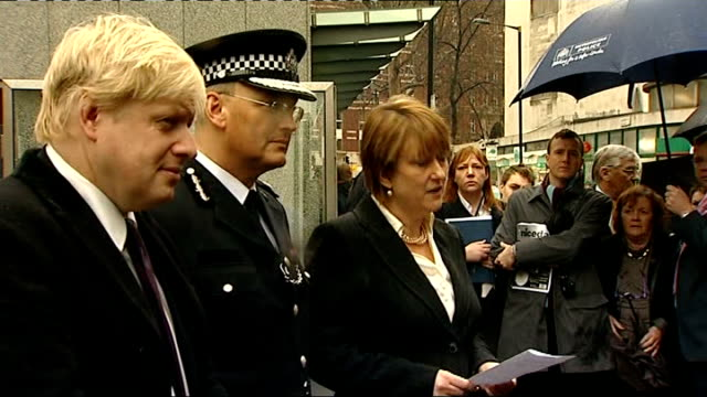 sir paul stephenson becomes metropolitan police commissioner: unveiling / interviews; england: london: new scotland yard: ext / rain boris johnson ,... - plant process stock videos & royalty-free footage