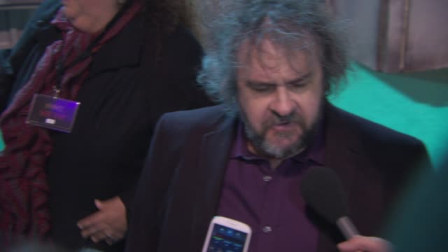 sir peter jackson on what he's learnt from his first film to completing the final film at 'the hobbit: the battle of the five armies' world premiere... - the hobbit: the battle of the five armies stock videos & royalty-free footage