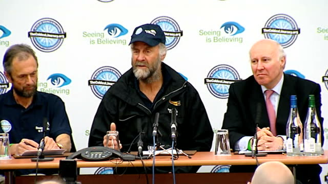 vidéos et rushes de sir ranulph fiennes antarctic expedition: press conference at heathrow; q: about being his last expedition or other challenges - as i said when... - antarctique
