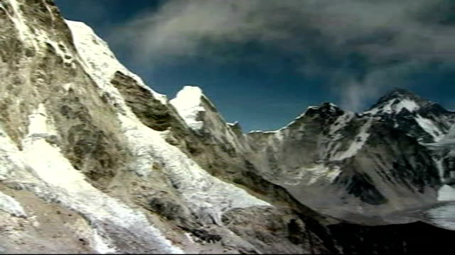 sir ranulph fiennes preparations to climb everest/ prostate cancer general view himalayas - prostate stock videos and b-roll footage