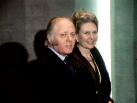 Sir Richard Attenborough and his wife Sheila arrive for the first night of the new Royal National Theatre. March 1973