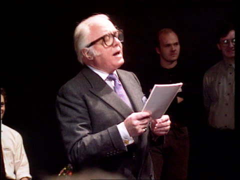 ANNOUNCED IB Sir Richard Attenborough speaking about Gielgud SOT took his first step into English stage and into theatre/ fame did not come instantly...