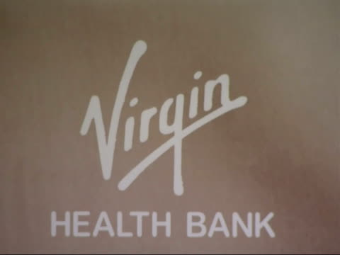 sir richard branson launches virgin health bank press conference england london int footage from the press conference for launch of virgin health... - 生後1ヶ月点の映像素材/bロール
