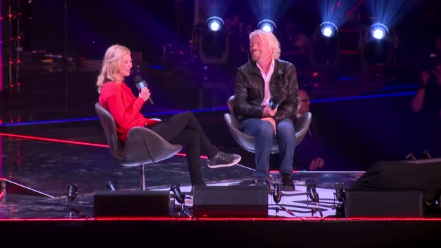 sir richard branson on early inspirations at we day uk at wembley arena on march 7, 2014 in london, england. - wembley arena stock videos & royalty-free footage