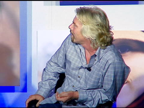 vídeos de stock, filmes e b-roll de sir richard branson on making a difference if one is able on material possessions not providing satisfaction at the sara blakely foundation 'give a... - sara blakely