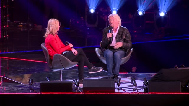 sir richard branson on starting out at we day uk at wembley arena on march 7, 2014 in london, england. - wembley arena stock videos & royalty-free footage