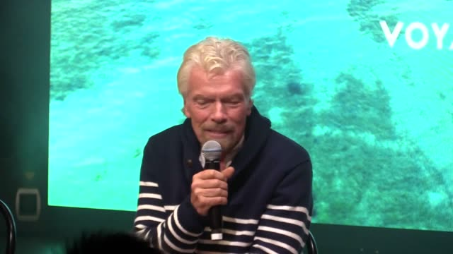 sir richard branson speaks at a press conference for the launch of his new luxury cruise line in dover on friday as he seeks to make a splash in a... - architect stock videos & royalty-free footage