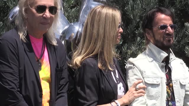 sir ringo starr held his annual 'peace and love' gathering in beverly hills to celebrate his 81st birthday. the beloved former beatle was joined by... - beverly hills california stock videos & royalty-free footage