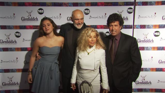 sir sean connery and guests at the 8th annual 'dressed to kilt' charity fashion show at new york ny - dressed to kilt stock videos & royalty-free footage