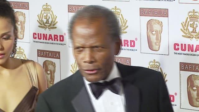 sir sidney poitier at the 2006 bafta/cunard britannia awards at the hyatt regency century plaza hotel in beverly hills, california on november 2,... - hyatt regency stock videos & royalty-free footage