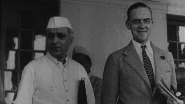 sir stafford cripps and jawaharlal nehru / india - british culture stock videos & royalty-free footage