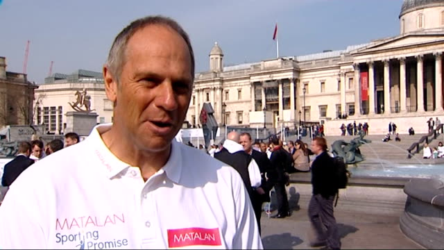 sir steve redgrave preparing for new sporting challenge close to his 50th birthday redgrave interview on taking part in the 125 mile devizes to... - マイル点の映像素材/bロール