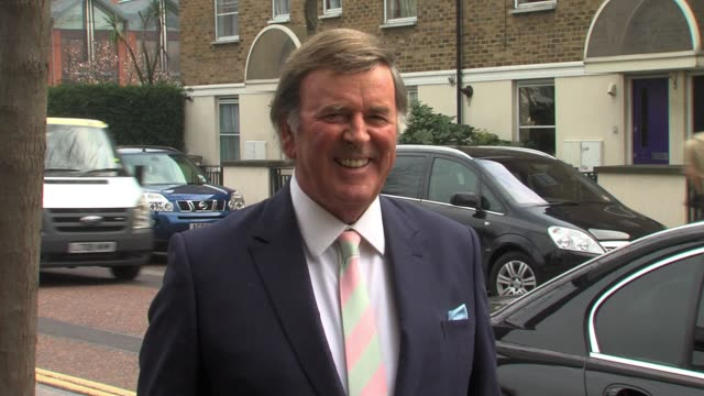 sir terry wogan at itv studios on the southbank sighted sir terry wogan at itv studios on march 15 2011 in london england - terry wogan video stock e b–roll