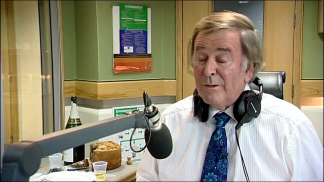 sir terry wogan last radio 2 breakfast show; sir terry wogan interview sot - one of reasons i've wormed my way into the public's affections is that... - terry wogan stock videos & royalty-free footage