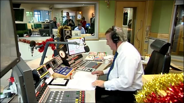 sir terry wogan last radio 2 breakfast show wogan plays final record 'the party's over' by anthony newley sot - terry wogan video stock e b–roll