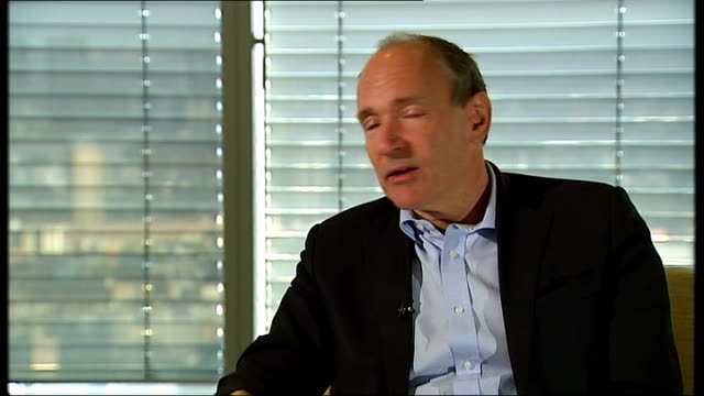 sir tim bernerslee speaks out against government surveillance and censorship england london int tim bernerslee interview sot - censorship stock videos and b-roll footage