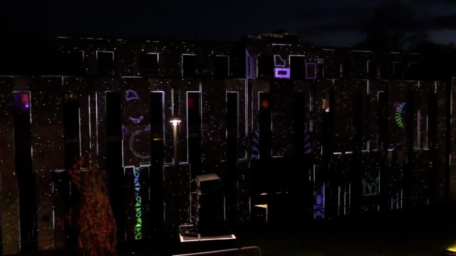 sir tim rice played the piano on an interactive installation at the uk's largest light festival in durham durham's lumiere festival is 10 years old... - tim rice stock videos and b-roll footage