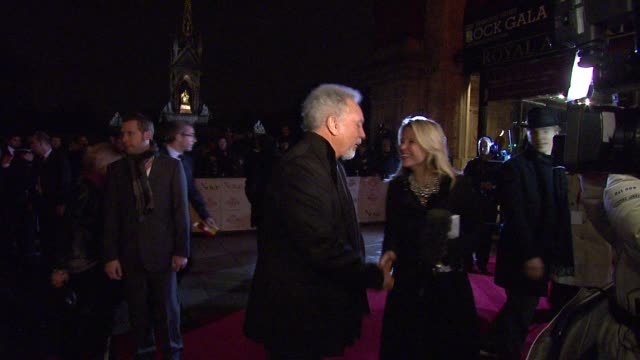 sir tom jones at the prince's trust rock gala 2010 arrivals at london england. - プリンスズトラスト点の映像素材/bロール