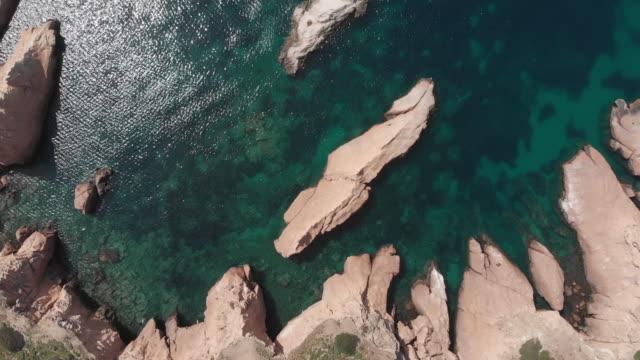 siren cliffs and rocks, orak island, foca, izmir, turkey - greek mythology stock videos and b-roll footage