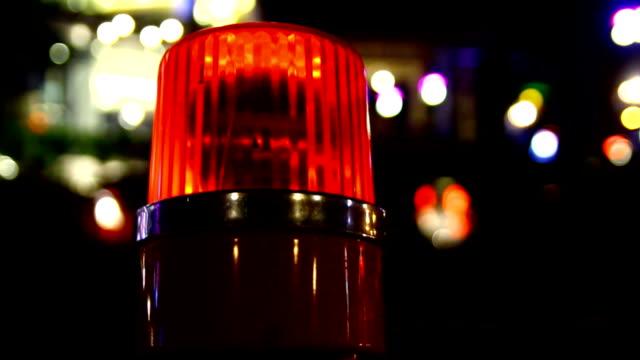 siren Licht auf road