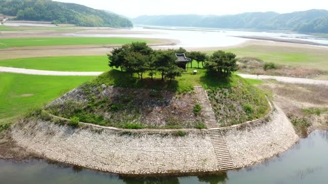 sisadan (gyeongsangbuk-do tangible cultural assets 33) in dosanseowon confucian academy / andong-si, gyeongsangbuk-do, south korea - octagon stock videos & royalty-free footage