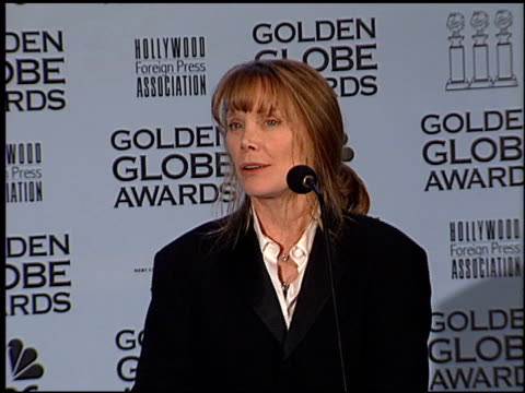 sissy spacek at the 2002 golden globe awards at the beverly hilton in beverly hills, california on january 20, 2002. - sissy spacek stock videos & royalty-free footage