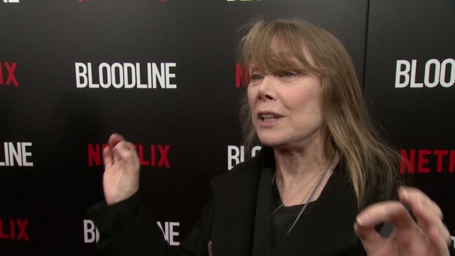 """sissy spacek claims the difference with e rayburn family is that """"its my family"""" and goes in depth about the plot and family twist. why she wanted to... - sissy spacek stock videos & royalty-free footage"""
