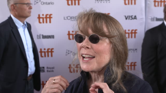 sissy spacek on how it feels to be celebrating the world premiere at tiff, why she wanted to be a part of this project and talks about working with... - sissy spacek stock videos & royalty-free footage
