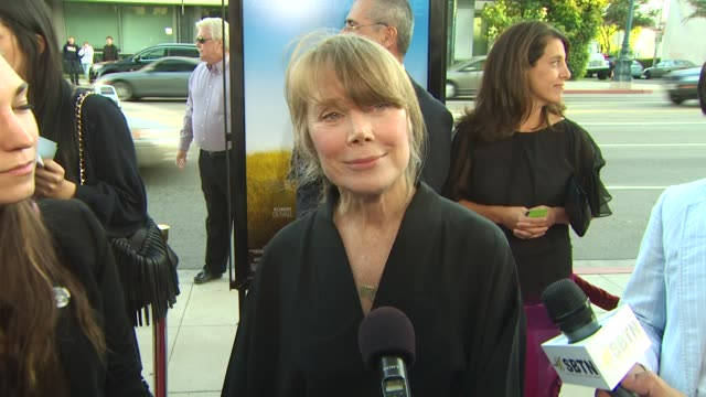 sissy spacek on what she loves about this film, the time period it's set in, her role at the 'get low' premiere at beverly hills ca. - sissy spacek stock videos & royalty-free footage